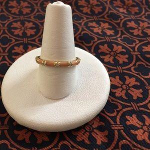 Jewelry - Hidalgo Peach Enamel 18 Karat Gold & Diamond Ring